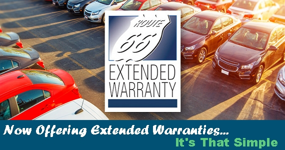 Now Offering Route 66 Extended Warranty On Vehicle Loans (certain restrictions apply). Call to set up an appointment today.